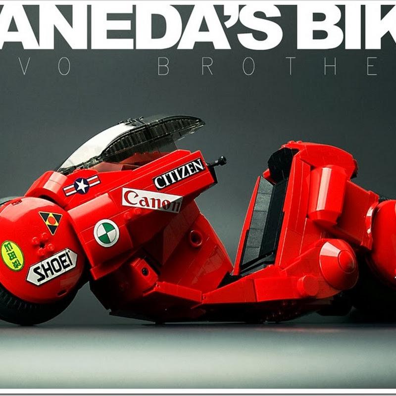 La moto de Kaneda (de Akira) hecha con puros LEGOs