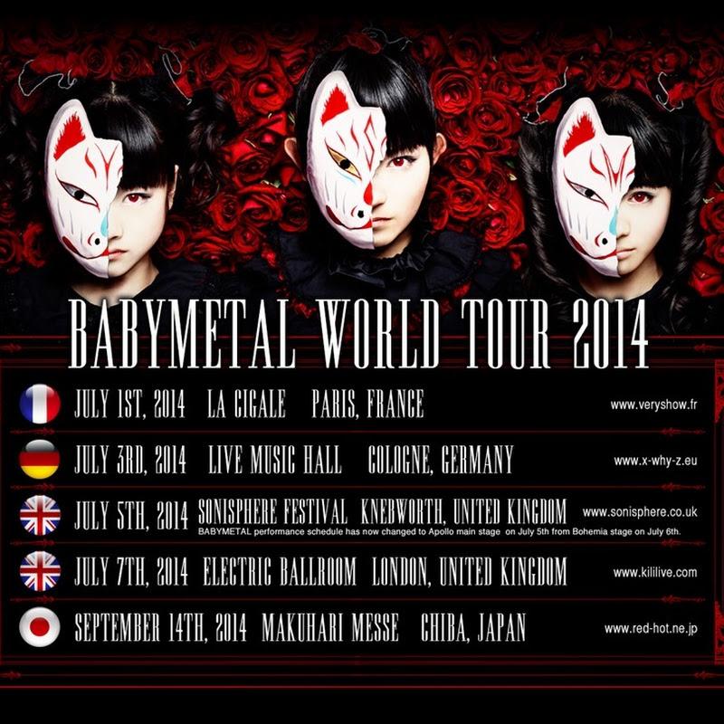 BABYMETAL WORLD TOUR 2014 (trailer e información)