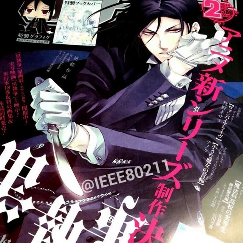 "Manga de ""Kuroshitsuji"" (Black Butler) tendrá nueva serie de anime"