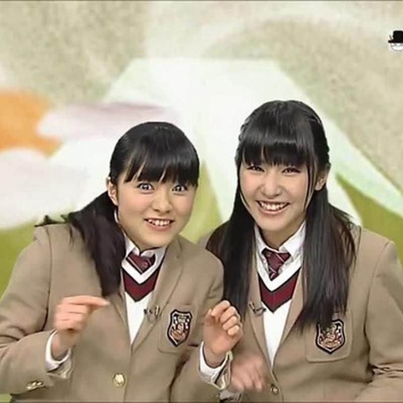 Sakura Gakuin (Horiuchi Marina e Iida Raura) en Saku Saku (2014.01.08)