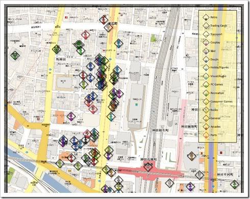 Mapa de Akihabara